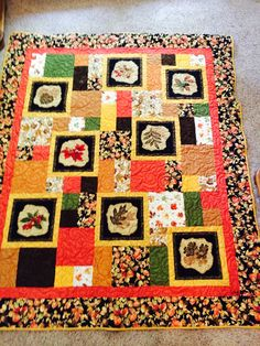 Fall perfect 10 lap quilt, made especially for my daughter-in-law Tiffany.