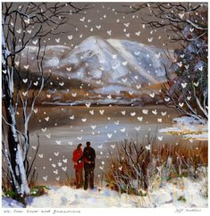 We Love Snow and Grasmere. Large mounted print.