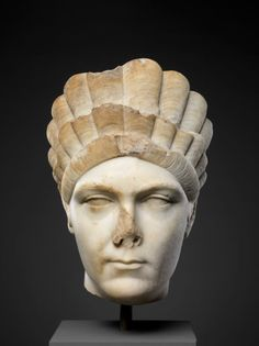 Marble portrait of Marciana, sister of the emperor Trajan. Period: Hadrianic. Date: ca. A.D. 130–138. Culture: Roman.