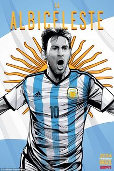 16. Argentina   Community Post: An Artist Created 32 Incredible Posters For Each Team In The FIFA World Cup
