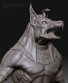 'Anubis' by Herbert Lowis. (Click to view: 605×734).