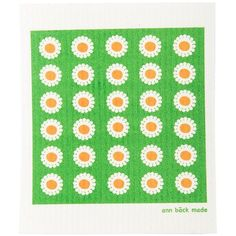 bellis, green Swedish Dishcloths - replace sponges and paper towels Free delivery within EU Paper Towels, Sustainable Design, Free Delivery, Printed, Green, Self, Prints
