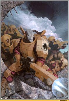 warhammer 40000,фэндомы,art,красивые картинки,песочница красивых картинок,tau empire,Fire warrior