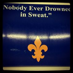 I love this! This is a quote hanging on the wall in the Limestone College wrestling room. Took this picture yesterday.