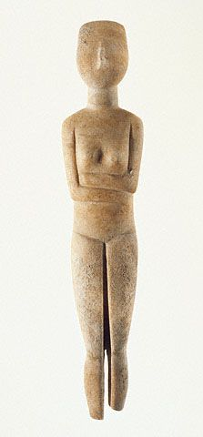 Female Figure with Missing Feet Cycladic, 2700 - 2500 B.C. (Getty Museum)