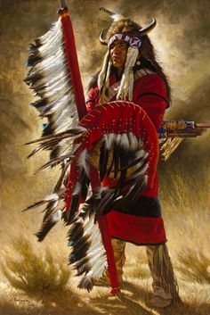 21 NATIVES AMERICAN PAINT - Red Wind.