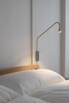 Shop SUITE NY for the Austere Wall sconce by Hans Verstuyft for and more contemporary LED wall lamps and Belgian designer lighting Bedside Lighting, Bedroom Lighting, Led Wall Lamp, Wall Sconces, Bedside Lamps On Wall, Pure Aesthetics, Minimal Bedroom, Wall Lights, Ceiling Lights
