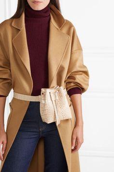 Nanushka - Minee Croc-effect Leather Belt Bag - Cream Small Leather Bag, Leather Belt Bag, Womens Fashion Online, Latest Fashion For Women, Long Grey Cardigan, Waist Purse, Fashion Bags, Fashion Outfits, Mango