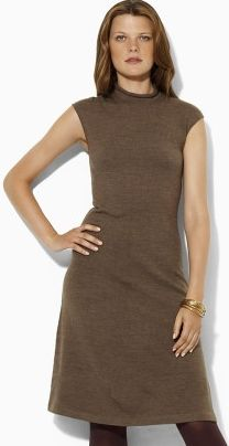 Ralph Lauren - Nykia Cap Sleeve Dress - Cottage Taupe Heather