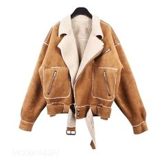 Jacket - Wooden (260 CAD) ❤ liked on Polyvore featuring outerwear, jackets, coats, tops, women and beige jacket