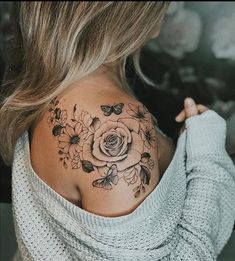 Arm Tattoos, Rose Tattoos, Body Art Tattoos, Tatoos, Thigh Tattoos Girls, Tattoos With Roses, Tribal Tattoos, Cool Tattoos For Girls, Cute Girl Tattoos