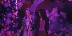 Hunter Schafer and Zendaya - behind the scenes of the winter formal (Euphoria, Best Tv Shows, Favorite Tv Shows, Series Movies, Tv Series, Color In Film, Purple Aesthetic, Zendaya, Wall Collage, Cinematography