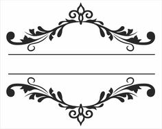 suggestion for design for your custom hand painted aisle runner. Your new last name in the middle? Or two first names. Decorative Lines, Diy And Crafts, Paper Crafts, Borders And Frames, Stencil Patterns, Foto Art, Border Design, Vintage Diy, Silhouette Design