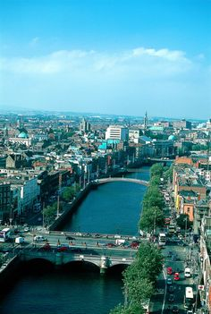 dublin ireland photos | Crossed by scenic bridges, the River Liffey flows through Dublin.