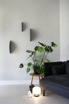 """SEGMENTS is a series of decorative wall objects. By creating shadows they add a dynamic element to the often static interior. The wall objects interact."