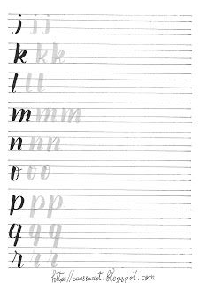 Cursive Writing Practice Sheets, Hand Lettering Practice, Hand Lettering Alphabet, Calligraphy Worksheet, Calligraphy Letters, Lettering Guide, Brush Lettering, Learn Handwriting, Calligraphy For Beginners