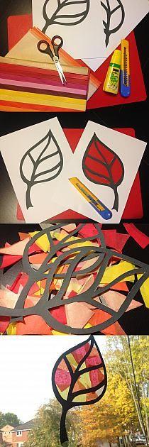 Zatrzymaj na dłużej kolory jesieni w Twoim domu. Bawcie się tworząc papierowe liście-witraże!