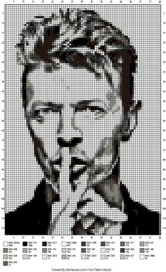 Wow!! This is a good find. Its cross stitch, but not hard to crochet, well not for me anyway ☺ #DavidBowie