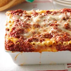 Best Lasagna Recipe | Taste of Home
