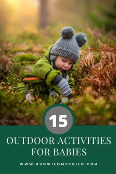 15 Simple Outdoor Activities for Babies - Outdoor Baby - Neugeborene Toddler Learning, Toddler Preschool, Toddler Play, Learning Games, Infant Activities, Fun Activities, Outdoor Activities, Hello November, Happy November