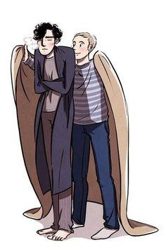 Omg reminds me cry wolf when charlie warped anna in a blanket Sherlock Bbc, Sherlock Holmes John Watson, Sherlock Holmes Benedict Cumberbatch, Sherlock Fandom, Sherlock Quotes, Jim Moriarty, Johnlock, Elementary My Dear Watson, Fanfiction