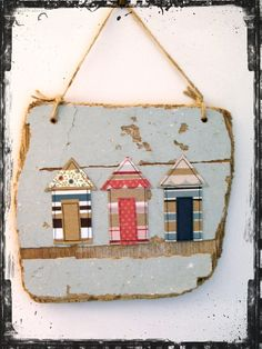 Driftwood, Beach Hut Wall Hanging (Available on Folksy.com, click if you're interested)