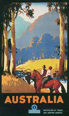 Australian vintage poster