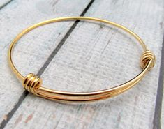 Gold Bracelet  Expandable Bracelet  Gold by SuppliesOnTheSide