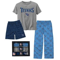 Just $24.99 !! Tennessee Titans BOYS 3 Pc Sleepwear Set NEW/NIB Size XL (18-20) $50 RET NFL #OuterstuffLtdNFLApparel #TennesseeTitans