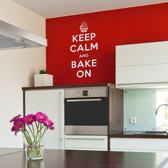 Keep Calm Bake On Wall Quote Decal #Christmas #thanksgiving #Holiday #quote