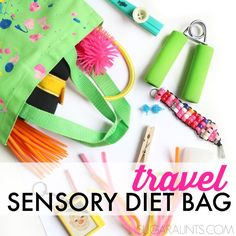 Travel Sensory Diet Bag for On the Go Sensory Needs