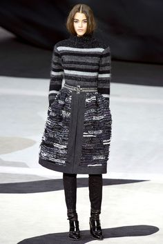 Chanel Fall 2013: More skirts over Skinnies.