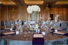 White hydrangea centerpiece www.deespetals.com @Karen Jacot Taylor Library