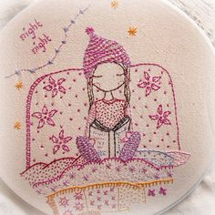 This cute girl in her sleepy time hat is reading a book before bedtime.  There are quite detailed instructions in the pattern and lots of photos. There