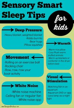 Sensory asleep Tricks from The Inspired Treehouse. Detailed article linked