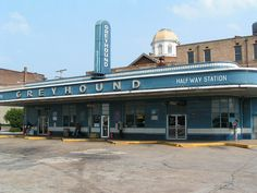 Greyhound Bus Station in Jackson, Tennessee; built in 1938, it's one of the oldest Greyhound stations still in operation.