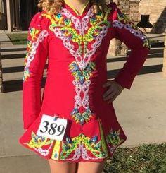 Glamorous Pink Prime Dress Designs Irish Dance Dress Solo Costume For Sale