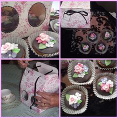 Cupcakes de café para el Día de la Madre. Coffee Cupcakes in Mother´s Day