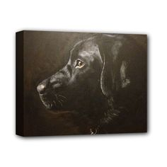 """Black+Lab+Deluxe+Canvas+14""""+x+11""""+(Framed)+Deluxe+Canvas+14""""+x+11""""+(Stretched)"""