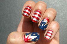 super hero nails :)