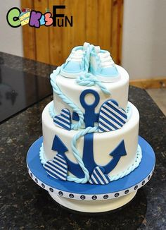 Nautical Themed Baby shower cake - Cake by Cakes For Fun