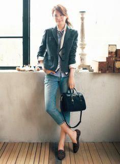 レイヤードにも味が出るウールジャケットが新鮮!   ファッション コーディネート   with online on ウーマンエキサイト