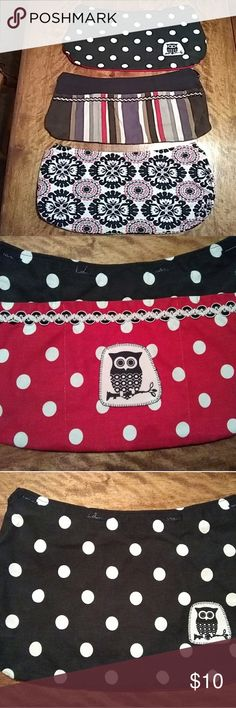 Thirty One skirts for small Thirty One bag Three skirt purses. Very good condition. Thirty one Accessories
