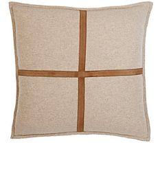 We Adore: The Suede-Detailed Cashmere Palermo Pillow from Rani Arabella at Barneys New York