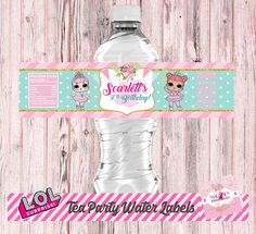 Designing is not just a hobby. As a cancer survivor, this also allows me to raise donations to different organizations struggling to find a cure for this disease L.O.L Surprise Tea Party Theme: – WATER BOTTLE BIRTHDAY LABELS *This is a PRINTABLE Birthday Water Bottle Labels (5) 2x 8