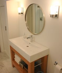 marshall house matters modern circle mirror modern bathroom vanity with one piece sink
