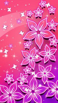 Clock Wallpaper, Bling Wallpaper, Wallpaper Iphone Neon, Butterfly Wallpaper Iphone, Cute Wallpaper For Phone, Wallpaper App, Flower Wallpaper, Wallpaper Backgrounds, Pattern Wallpaper