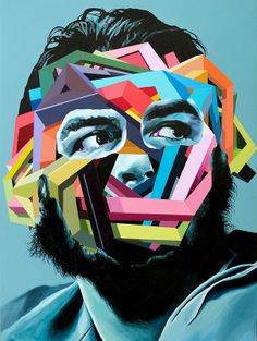 Juan Travieso's Design-Oriented, Colorful Paintings #realistic #portrait