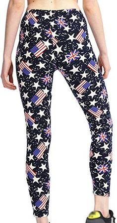 7f88d5ff049b SOMTHRON Women s High Rise Graphic Printed Slim Sports Thights Leggings  High Waist Graphic Skinny Yoga Pants Leggings(BL16) at Amazon Women s  Clothing store ...