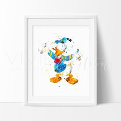 Donald Duck Disney Nursery Art Print